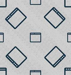 Simple browser window icon sign seamless pattern vector