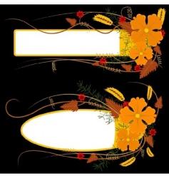 Floral banner vector