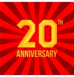 Bright anniversary poster vector image