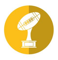 ball trophy shape american football award shadow vector image