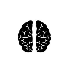 Brain solid icon medical and school element vector