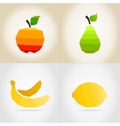 Collection fruit vector image vector image