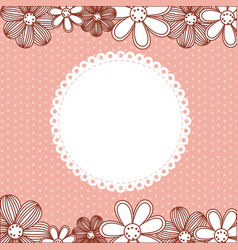 Color pattern dotted with flowers background vector