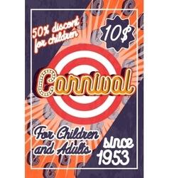 Color vintage amusement park poster vector