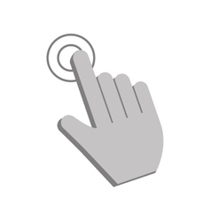 Cursor touch and web design vector