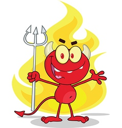 Devil cartoon vector image