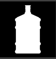 Dispenser large bottles white color icon vector