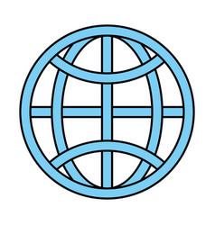 earth globe diagram communication icon image vector image vector image