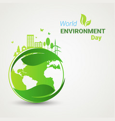earth green city world environment day ecology vector image vector image