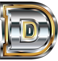 Fancy font letter d vector