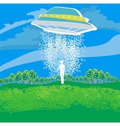Flying saucer arrived vector