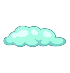 Freezing rain cloud icon cartoon style vector