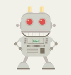 Funny flat robot vector