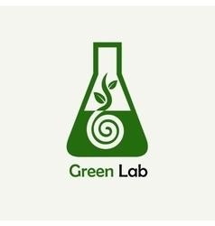 Green lab logo emblem template vector