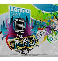 grunge concert poster vector image