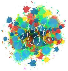 Happy Holi Festival vector image vector image