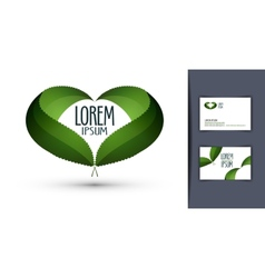 heart logo design template ecology or bio icon vector image vector image