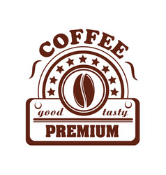 Icon of coffee bean for cafeteria or cafe vector