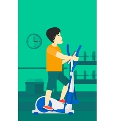 Man making exercises vector