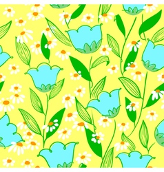 Minimalistic floral seamless background vector