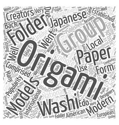 Modern and artistic origami word cloud concept vector