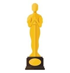oscar film festival award vector image vector image