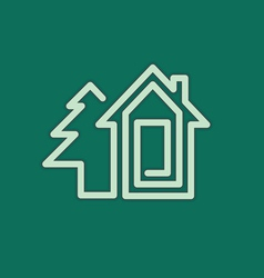 real estate house symbol vector image vector image