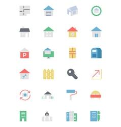 Real Estate Icon 3 vector image vector image