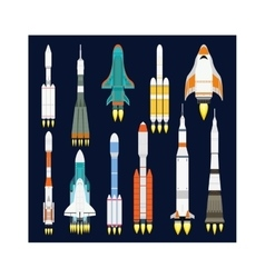 Rocket icon isolated vector
