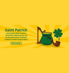 saint patrick banner horizontal concept vector image vector image