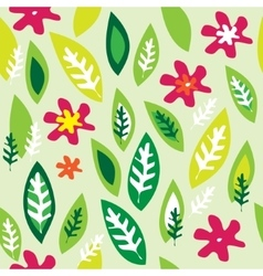 seamless background with colored flowers vector image