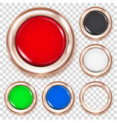 set of colored plastic buttons vector image vector image