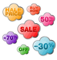 Set Sale Tags vector image vector image