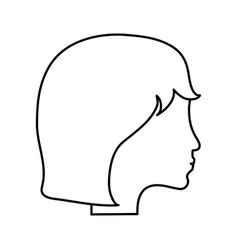 Side profile head of faceless woman icon image vector