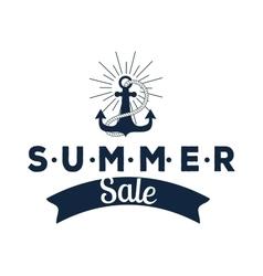 Summer sale logo vector
