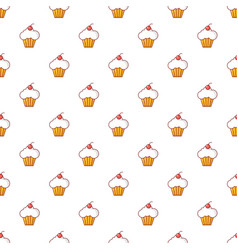 Sweet cupcake pattern seamless vector