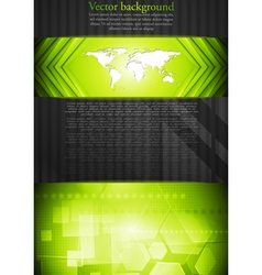 tech background with world map vector image