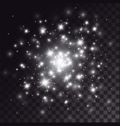 White sparkles light effect vector