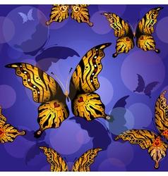 0 blue seamless butterfly vector