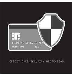 Credit card security vector