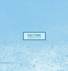 Halftone texture in sky blue color vector