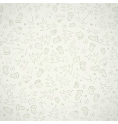 Simple christmas icon seamless pattern vector