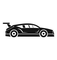Rally racing car icon simple style vector