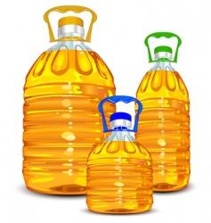 oil bottles vector image