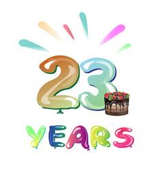 Happy anniversary 23 years vector