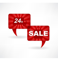flat speech bubble icon with advertising sales vector image