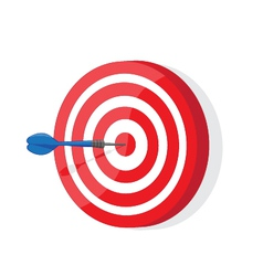Red and white darts target vector