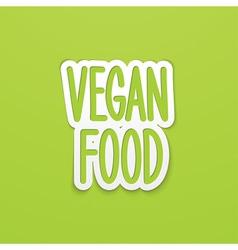 vegan food hand written calligraphy vector image
