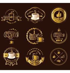 Set of vintage retro coffee labels vector