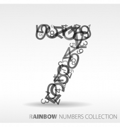 Number seven design elements vector